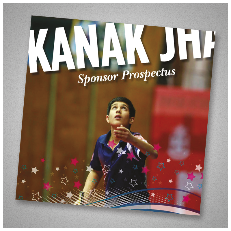 Kanak Jha – sponsorprospectus. Copy, design and artwork.